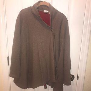 J Jill Pure Jill drape jacket brown Medium